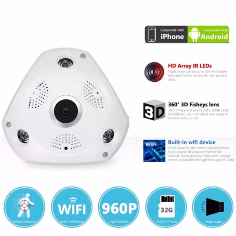 IP Κάμερα οροφής με Πανοραμική Θέαση 360° - Καταγραφή σε κάρτα sd